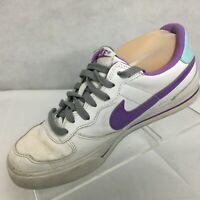 Vintage NIKE ACE 83 Sneakers Sz 8 White Purple Athletic Skater Streetwear