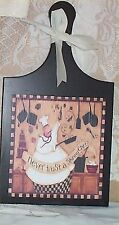 Fat Chef Cutting Board Never Trust Wall Plaque Decoration Bistro Decor Cafe