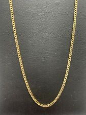 18ct 18k Yellow Gold Italian Fine Curb Link Chain Necklace 2.2 Grams 39cm. New