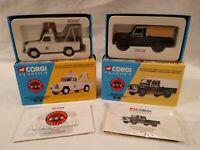 2x Corgi Land Rover Emergency Services diecast vehicles 07102, 07301 MIB Ltd Ed