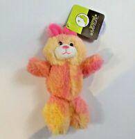 Animal Adventure Pink Bunny Rabbit Plush Stuffed Animal Toy Yellow Pink New