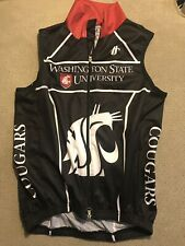 Men's Washington State Cougars WAZZU Cycling Vest Jacket Medium M