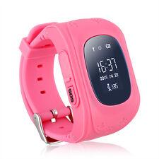 GPS Children Pink Locator Tracker Anti-Lost Smart watch Safety for smartphone