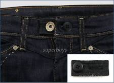 Black Denim & Button Pants Shorts Jeans Trouser Waist Line Extender Widen Expand