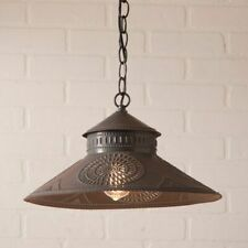 SHOPKEEPER Shade Hang Light with Chisel in Blackened Tin