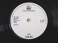 "UB40 King / Food For Thought A2 B2 UK 7"" Graduate GRAD 6 1980 EX"