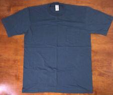VINTAGE 1990s STRIPED BLUE JC PENNEY TOWNECRAFT POCKET T-SHIRT soft cotton XL