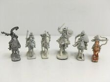 Lot of 6 Ral Partha Mounted Adventurers Dungeons and Dragons OOP #67