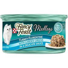 New listing Purina Fancy Feast Medleys Florentine Collection Gourmet Wet Cat Food Turkey 3oz