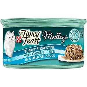 Purina Fancy Feast Medleys Florentine Collection Gourmet Wet Cat Food Turkey 3oz