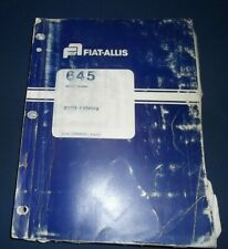Fiat Allis 645 Wheel Loader Parts Manual Book Catalog