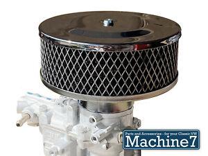 Weber 34 ICT Empi 34 EPC Air Filter Chrome Pancake Foam Filter Classic Car Bug