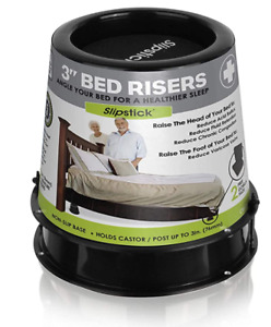 Slipstick CB676 3 Inch Incline Bed Risers for Acid Reflux, Pain, and Breathing..