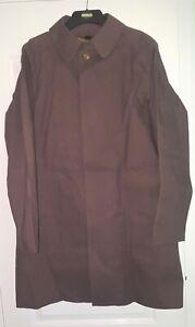 Gekko mackintosh raincoat brown rubber rubberised