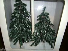 VILLAGE FROSTED HEMLOCK #52638  TWO TREES  DEPT 56 RETIRED SNOW VILLAGE BOXED
