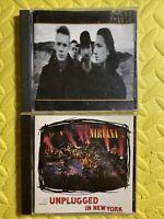 LOT OF 2 CDS ROCK U2 NIRVANA JOSHUA TREE UNPLUGGED IN NEW YORK