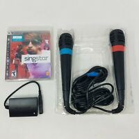 Singstar 2 USB Microphones, New PS3 Game, Playstation 3 Adapter Bundle - Tested