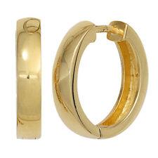 Mode-Ohrschmuck aus Sterlingsilber ohne Stein mit Schnappverschluss