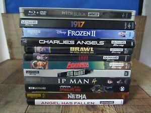 4K Ultra HD Blu-Ray Lot 11 Movies 1 Blu-Ray Steel Case Movie Pitch Black Used