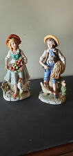 Vintage Homco Porcelain figurines Boy/Girl #1888 Excellent Condition