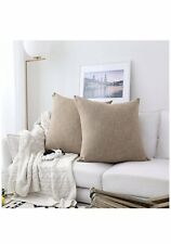 Kevin Textile Burlap Naturalstyle Lined Linen Throw Pillow Cases Cover 26x26