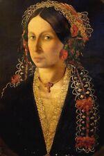 Importante dipinto Veneto XVII Secolo - Ritratto di nobildonna - olio su tela