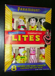 Walt Disney, Mickey Mouse figural character CHRISTMAS-XMAS lites Paramount, MIB
