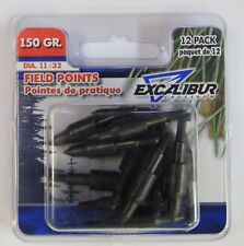 "Excalibur TP150-12 Field Points, 11/32"" 150 Grain , 12 Pack"