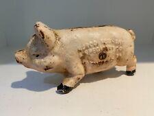ANTIQUE / NORCO FOUNDRY  CAST - IRON  PIG COIN BANK. ORIGINAL.