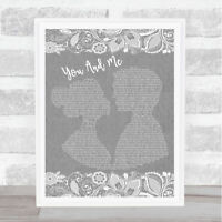 The Beatles And I Love Her Vintage Heart Song Lyric Quote Print