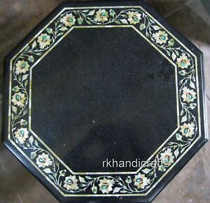 18 Inches Marble Coffee Table Top Octagonal Shape Corner Table with Elegant Look