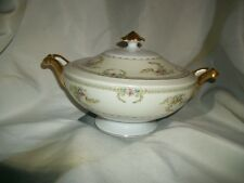 Meito China Cream & Floral Pattern Japan Covered Caserole Serving Dish