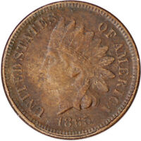 "1865 1C Indian Head Cent Penny ""Fancy 5"" w/ LIBERTY Civil War Era Coin"
