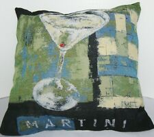Martini Bar Throw Pillow Tapestry Square 16 Inch Brentwood Originals