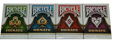 Bicycle Branded Ornate Playing Cards 4 Deck Set -- Limited Edition - SEALED