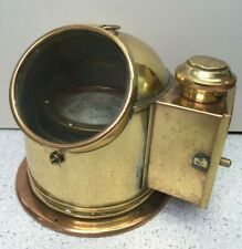 Vintage Brass Sestrel Navigation Binnacle with Compass and Lantern Box