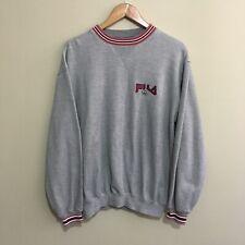 Fila Pro Sportswear Crewneck Sweatshirt Jumper Grey Mens Small