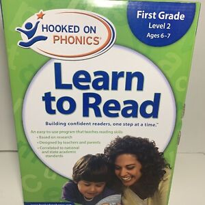 Hooked On Phonics Learn To Read Set First grade - 1st Grade Level 2 UNUSED