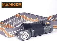 MANKER E02H Cree XP-G3 AAA LED Magnetic Cap Pocket Clip Headlight Grey