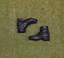 DRAGON 1/6 SCALE WW II GERMAN - LOOSE - SHORT BLACK BOOTS (PLASTIC)