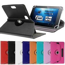 "360?Folio PU Leather Box Case Cover For Universal Android Tablet PC 7"" w/ Styus"