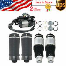 5pcs Air Springs + Compressor Pump w/ Bracket for Jeep Grand Cherokee WK2 Quadra
