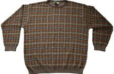Ermenegildo Zegna Multicolor Plaid Cotton Blend Sweater XL/54 EU