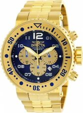 Invicta Men's 25077 Pro Diver Quartz Chronograph Blue, Gold Dial Watch