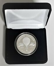 1985 Red Rose Coin Club Pioneer Aeronaut Johnson Matthey 1 oz. .999 Silver Medal