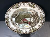 "Johnson Brothers Friendly Village 15 1/4"" Oval Platter TURKEY PLATTER Multicolor"