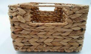 Woven Storage Organization Home Decor Basket Handles Medium 10.75 X 7.5x 5 Brown