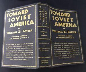 William Z. Foster Signed Book Toward Soviet America COA