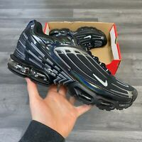 NIKE AIR MAX PLUS III TUNED BLACK TRAINERS SHOES SIZE UK9.5 US10.5 EUR44.5