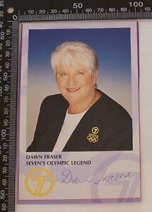 SIGNED DAWN FRASER CHANNEL 7 OLYMPIC LEGEND SYDNEY 2000 OLYMPIC GAMES FAN CARD